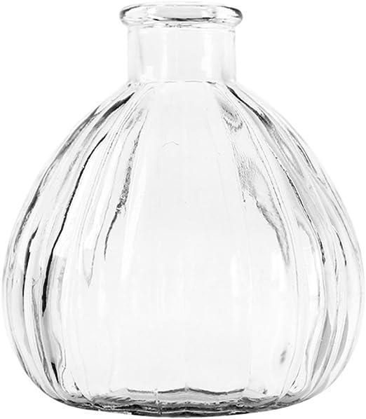 Ruikey Transparente Pequeño florero de Cristal de la chuchería ...