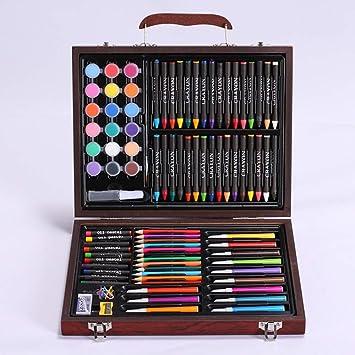 szegwh Estuche de Madera con lápices de Colores, Arte Infantil, Acuarela, Artista Principal para Colorear y Pintar Estuches, marrón Oscuro: Amazon.es: Juguetes y juegos