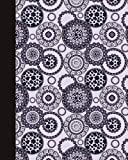 Sketch Journal: Animal Print Mandala (Royal Blue and Purple) 8x10 - Pages are LINED ON THE BOTTOM THIRD with blank space on top (8x10 Mandala Design Sketch Journal Series)