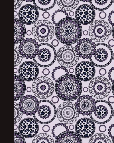 Sketch Journal: Animal Print Mandala (Royal Blue and Purple) 8x10 - Pages are LINED ON THE BOTTOM THIRD with blank space on top (8x10 Mandala Design Sketch Journal Series) by CreateSpace Independent Publishing Platform