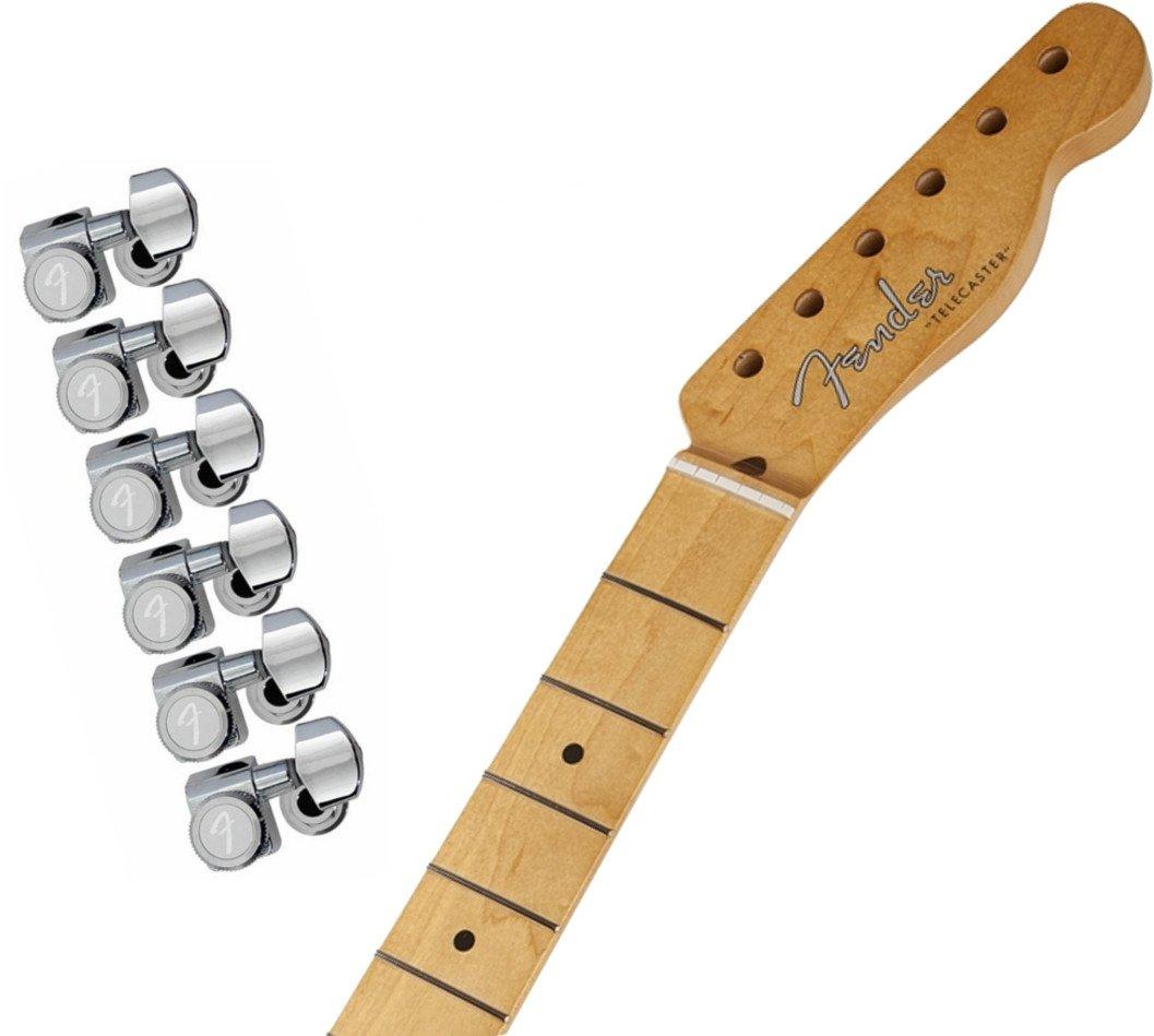 Fender Vintage-Style '50s Telecaster Neck - Maple Fingerboard w/ Fender Locking Tuning Machines