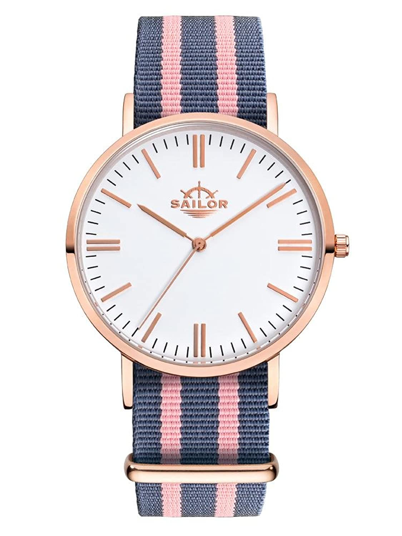Sailor Armbanduhr Classic Dock mit Nylonarmband - Farbe Ziffernblatt:weiß - Durchmesser:36mm
