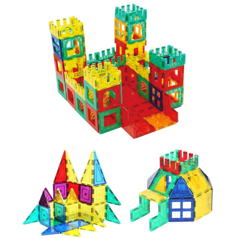 DYMAS Juguete Intelectual Bloques de Ventana de Color magnético Transparente de Rompecabezas Color de Rompecabezas para niños