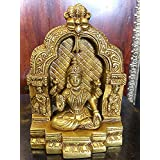 Goddess of Wealth- Goddess Lakshmi Brass Statue Hindu Idol Puja Gifts Indian Art 6 Inch