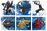 "GAME OF THRONES 6 Piece Die Cast Metal Christmas Tree Ornament Set Featuring Various Great Houses - Around 2"" to 3"" Tall"
