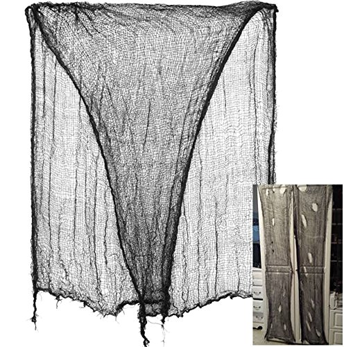 Father.son Haunted House Creepy Cloth Decoration Haunted House Party Decorations.(180inches black) ()