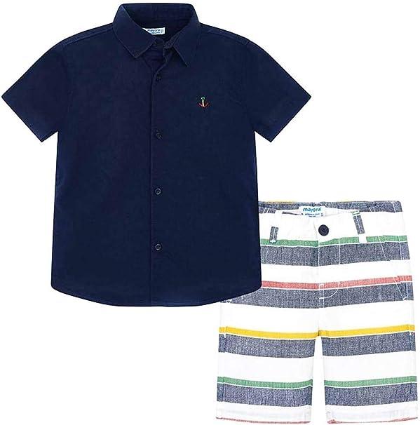 Mayoral Conjunto Bermuda Camisa m/c Niño 2-8 Años (7 años): Amazon.es: Ropa y accesorios
