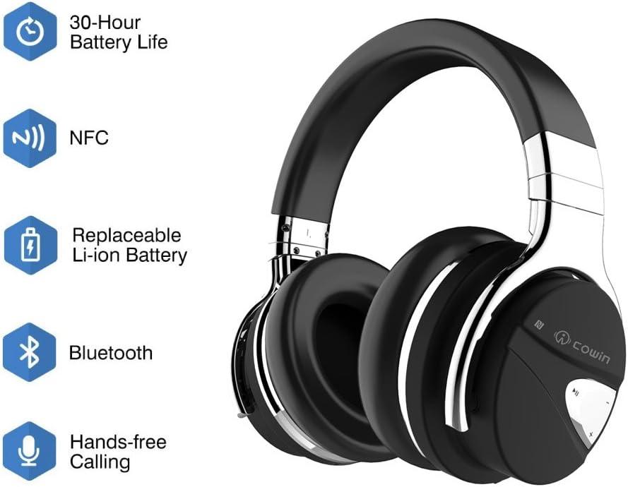 COWIN E7 Auriculares inalámbricos Bluetooth con Bajos Profundos ...