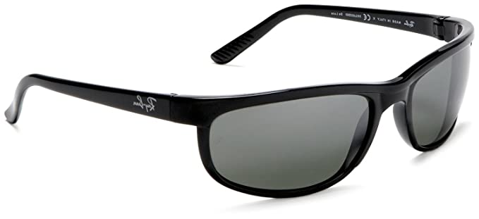 0f49bb7fef Image Unavailable. Image not available for. Color: Ray Ban RB2027 Predator2  Matte Black/Green Classic W1847 Sunglasses