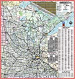 48x52 Minnesota State Official Executive Laminated Wall Map