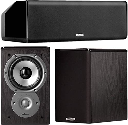 Polk Audio TSi100 3.0 Home Theater Speaker Bundle Black