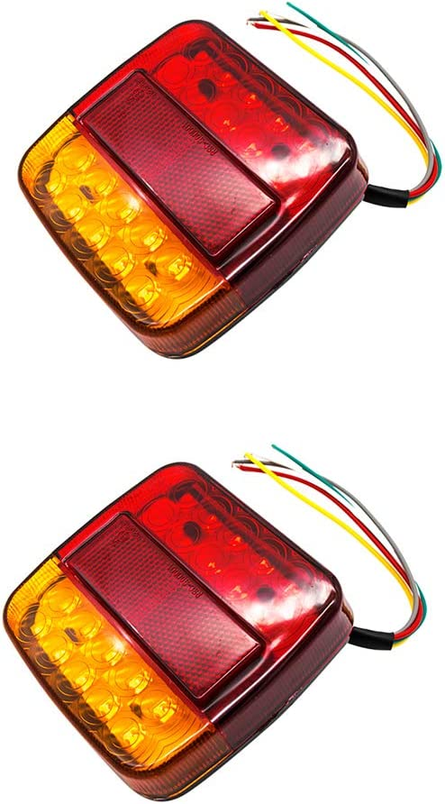 OurLeeme Rear Trailer Lights Truck Caravan Rear Brake Lights urn Signal Brake Stop Lamp License Plate Lights
