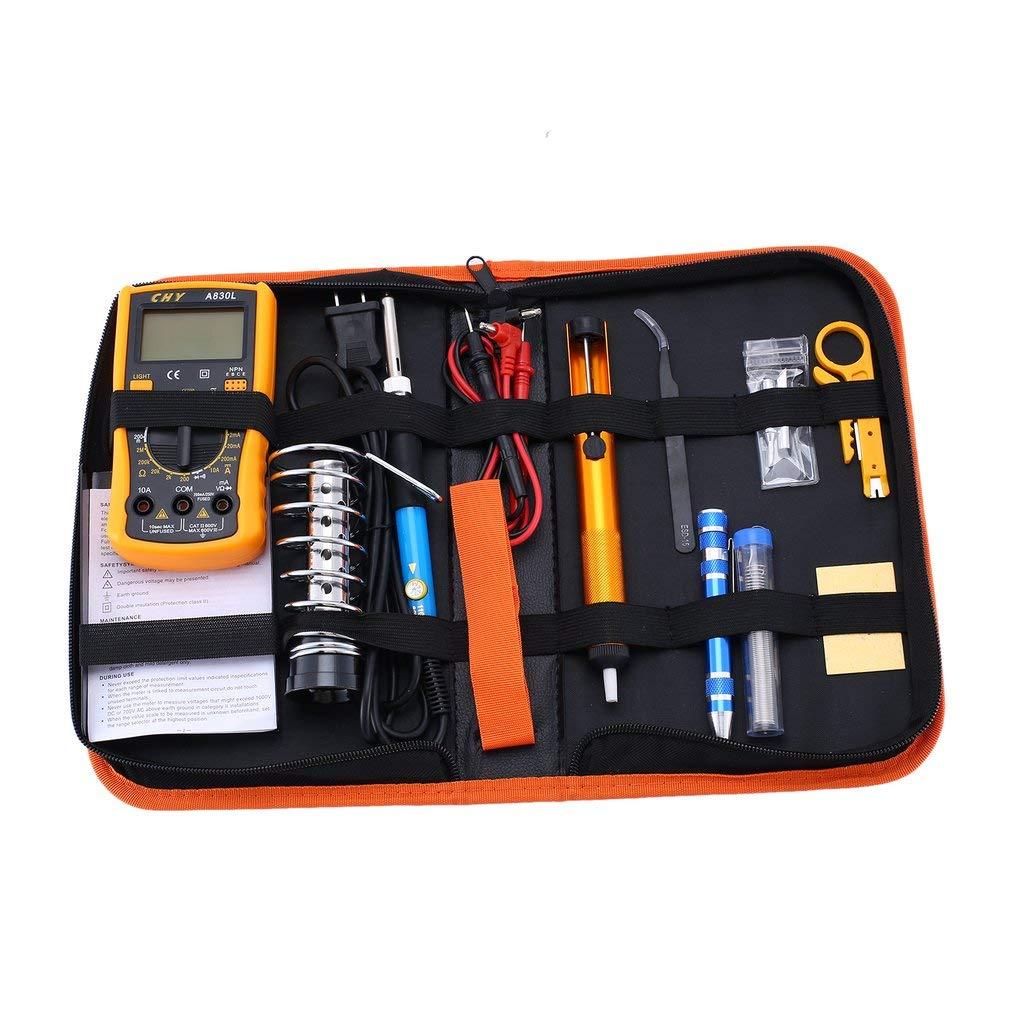 Multi-Functional 60W Soldering Iron Kit Adjustable Temperature Welding Tool Advanced Digital Multimeter Mobile PC Repair Tools