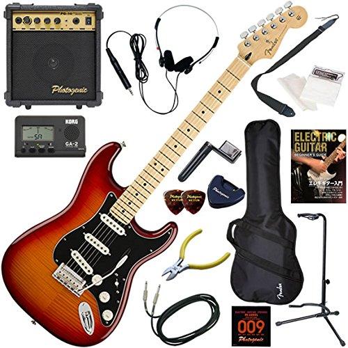 日本製 FENDER エレキギター 入門 初心者 入門 メキシコ製 FENDER フレイムメイプルトップのストラトキャスター。 エレキギター 10wアンプが入ったスタンダード15点セット Player Stratocaster Plus Top/ACB/M(エイジドチェリーバースト/メイプル指板) ACB/M(エイジドチェリーバースト/メイプル指板) B07FL65R4B, MARIAGE:f45c229f --- arianechie.dominiotemporario.com