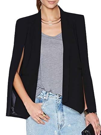 Summerwhisper Women s Solid Open Front Cape Blazer Shawl at Amazon Women s  Clothing store  0bc5de2f1d9f