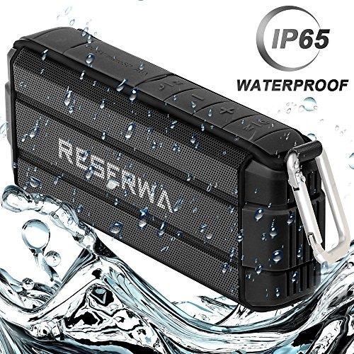 Reserwa Bluetooth Speakers with TWS Pairing Function Full-range Speakers Enhanced Bass V4.2 IP65 Waterproof Wireless Speakers Built-in Mic Portable Speaker for Outdoor Home Shower Beach