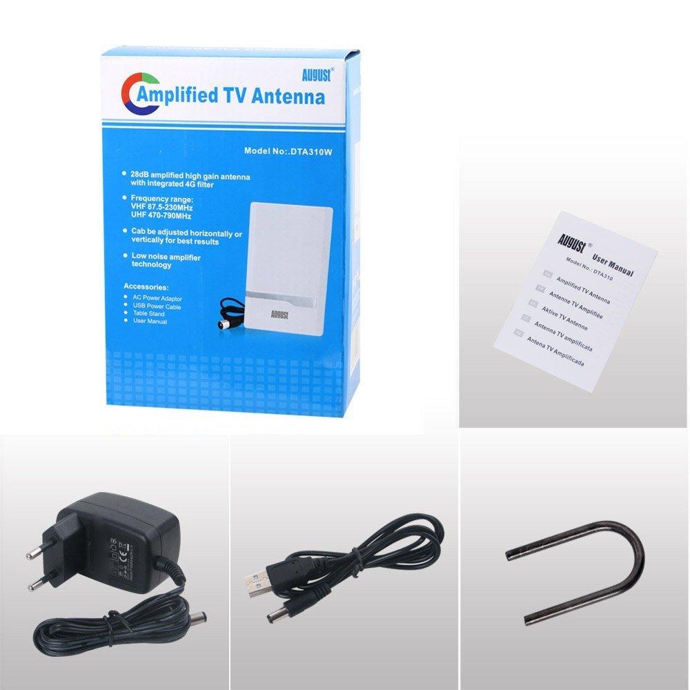 August DTA310 Antena Televisión TDT con adaptador USB: Amazon.es: Electrónica