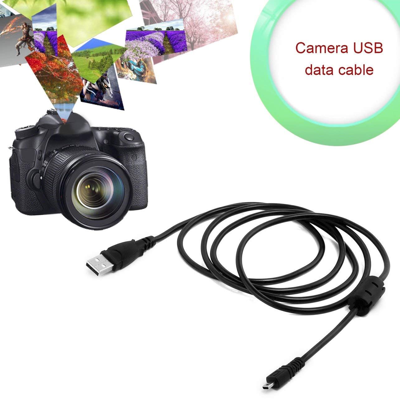 Heaviesk 1.5M 8 Pin Cable USB con Anillo de im/án Accesorios de c/ámara port/átil para Nikon Coolpix L19 L20 L100 S620 UC-E6 E4