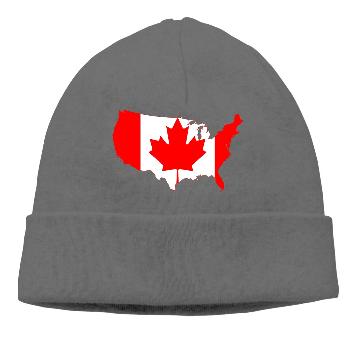 7227d6dc0 Amazon.com: Us and Canada Map Beanie Hat Cute Toboggan Hat Winter ...
