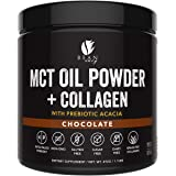 MCT Oil Powder with Collagen and Prebiotic Acacia - Pure MCT's - Perfect for Keto - Energy Boost - Nutrient Absorption…