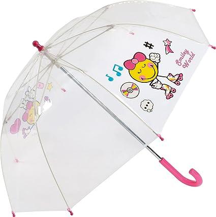 61 cm Transparent Le Monde du Parapluie Parapluie Canne Cloche avec Ouverture Automatique