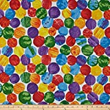 Andover The Very Hungry Caterpillar Giant Dot Multi Fabric By The Yard, Multicolor