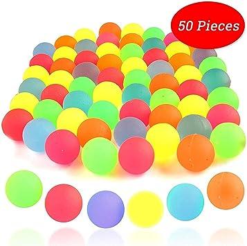 Bouncy Ball - 50 Bolas De Goma De Colores Sólidos De Neón De ...