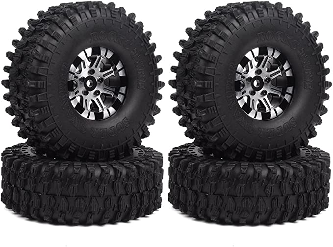 1.9 Inch Rim Tyre Wheel Tire For 1//10 RC Rock Crawler SCX10 D90 TRX4 110MM