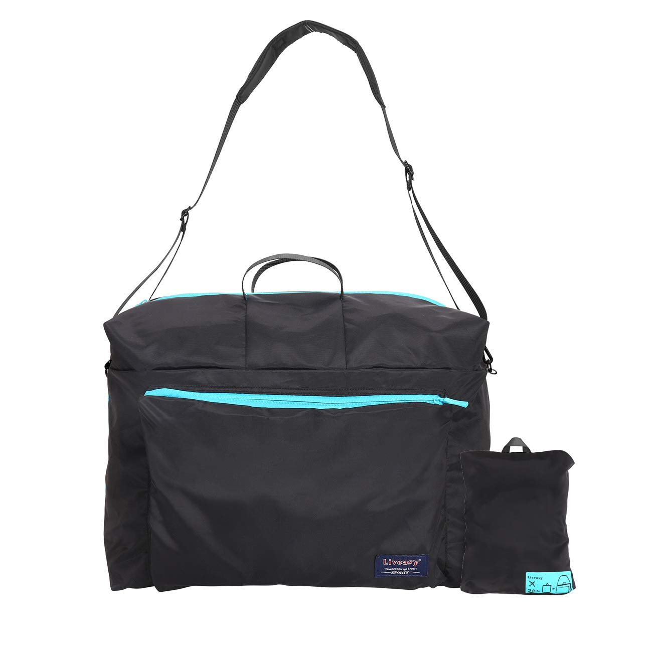 LIVEASY Weekend Bag Travel Duffel Bag Foldable Packable Bag for Luggage Waterproot and Lightweight Bag Gym Bag