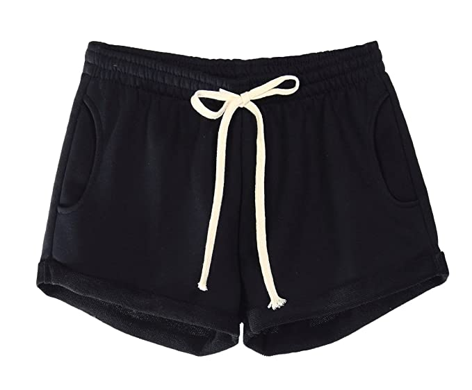 a818435f000af1 Amazon.com  WUAMBO Athletic Women s Lounge Workout Solid Yoga Shorts ...