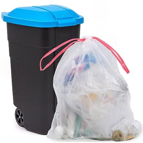 Amazon.com: jekiyo Tall Cocina Cordón bolsas de basura 13 ...