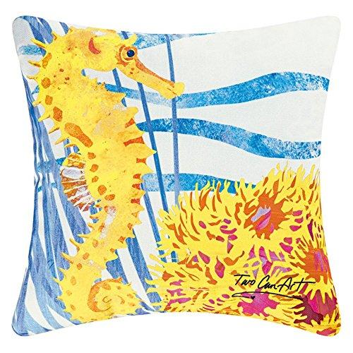 Seahorse Decorator Pillow, Indoor Outdoor Use