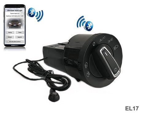ElecGear EL17 Bluetooth App Sensor de luz Faros Interruptor, Faro Niebla Luces Antiniebla Interruptor de