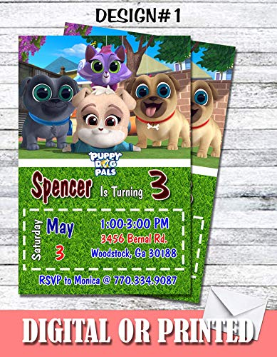 Puppy Dog Pals Personalized Birthday Invitations More Designs Inside! ()