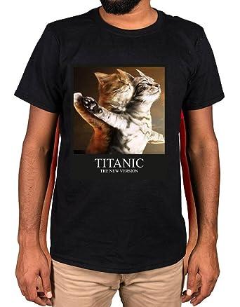 85c2f4009 Ulterior Clothing Titanic Version Funny Cat Parody T-Shirt Movie Gift:  Amazon.co.uk: Clothing