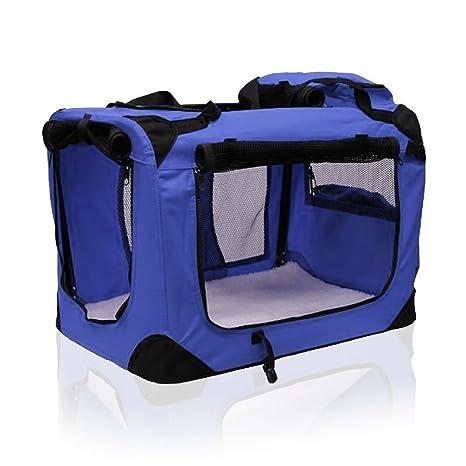 Portátil y suave tela plegable para mascotas, transportador de ...