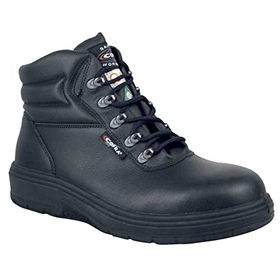 COFRA Leather Work Boots - Treadless Asphalt Footwear with Composite Safety Toe & Heat Defender Nitrile Rubber Outsole: Home Improvement
