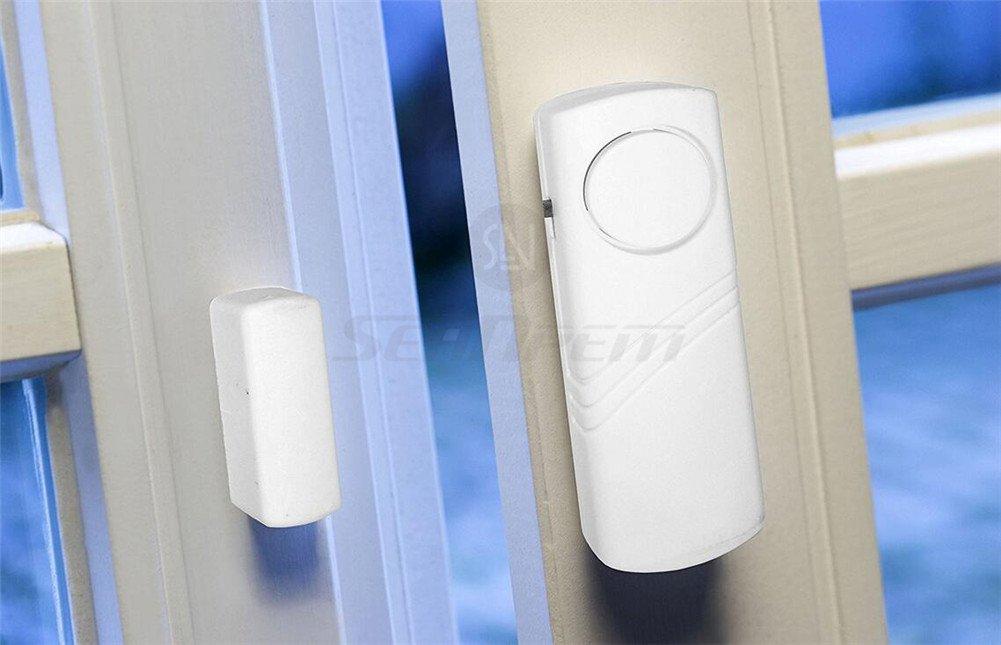Inalámbrico Sistema de alarma de seguridad para el hogar DIY Kit - antirrobo Sistemas de alarma magnético Sensor - Tutor pantalla - ventana cristal vibración alarma antirrobo Seguridad para casas, coches, caravanas, caravanas, cobertizos (10)