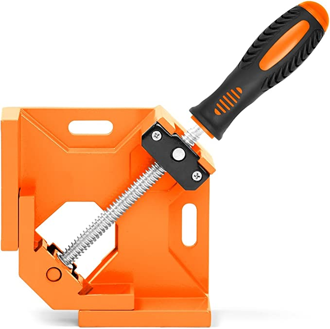 HXSD New 90 Degree Right Angle Clamp Picture Frame Corner Clip 100MM Mitre Clamps Corner Holder Woodworking Hand Tools 4 inch Size : 4 inches