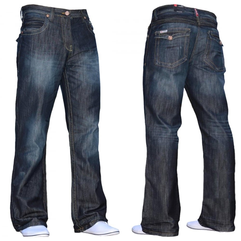 30c27a3e0c9c3f Enzo Mens New A31 Designer Bootcut Flared Denim Dark Wash Prime:  Amazon.co.uk: Clothing