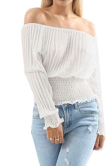 Ladies off shoulder Ruffle Frill crop Top Womens Bardot Fashion Tops 8-14