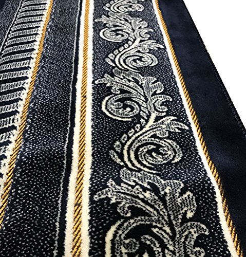 Wide BEST QUALITY Plush Velvet Islamic Prayer Rug Namaz