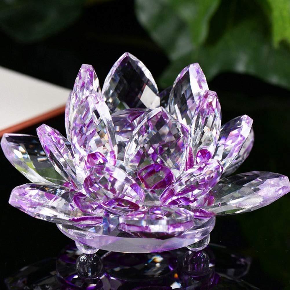 YU FENG Flor de Loto de Cristal Adornos Regalo para El Hogar