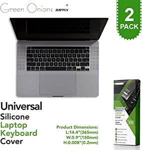 Universal Flat Easily Sanitized Durable Protective Film Matte Surface Silicone Keyboard Cover for Laptop/Pos Keyboard [2 Pack]
