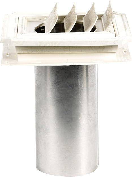 "Builders Edge 00030804001 Mid America 4/"" Dryer Exhaust Vent White 4 PACK"