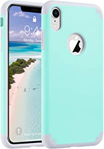 ULAK iPhone XR Case, Slim Fit Hybrid Hard PC Back Cover with Shock Absorption Soft Silicone Interior Anti Scratch Protective Phone Case for iPhone XR 6.1 inch, Mint