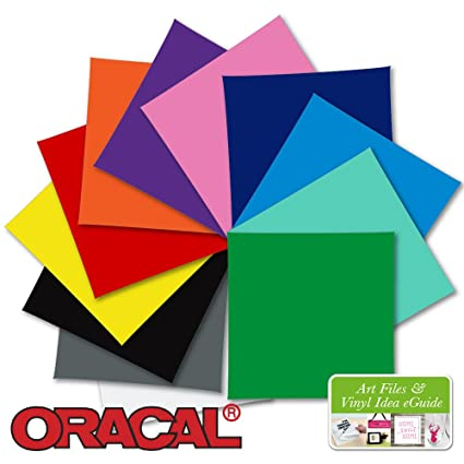 Amazon com: 12-12 Inch x 12 Inch Sheets of Oracal 751 Ultra