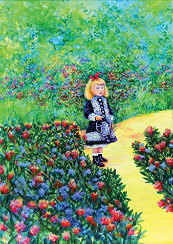 Toland Home Garden Renoir's Girl with Watering Can 12.5 x 18 Inch Decorative Spring Flower Classic Painting Garden Flag
