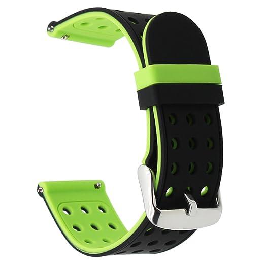 2 opinioni per TRUMiRR 22 millimetri gomma di silicone Watch Band doppio lato Indossare la