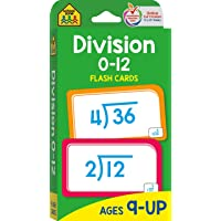 School Zone - Division 0-12 Flash Cards - Ages 9 and Up, 3rd Grade, 4th Grade, Math Equations, Division Practice…